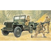 WILLYS MB JEEP WITH TRAILER E1/35