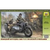 MOTOCICLETA CON SIDECAR ALEMANA BMW R-12 E1/35