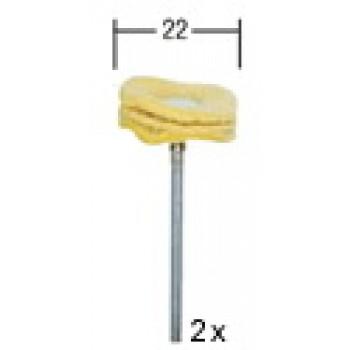 DISCOS PULIDORES DE GAMUZA  Ø22mm
