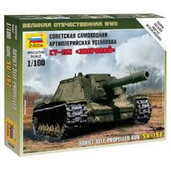 TANQUE SOVIETICO - SELF PROPELLED GUN SU-152 E1/100