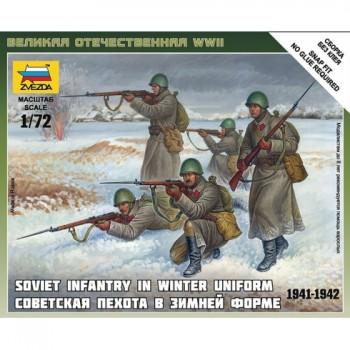 INFANTERIA SOVIETICA CON UNIFORME DE INVIERNO E1/72