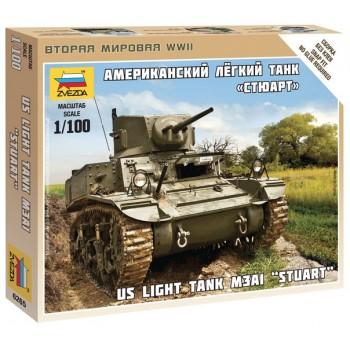 US LIGHT TANK M3A1 STUART E1/100
