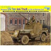 4X4 TRUCK C/ 50.-CAL MACHINE GUN. E1/35