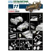 VEHICULO IDF DE 1/4 TONELADA 4X4 CON AMETRALLADORAS MG34 E1/35
