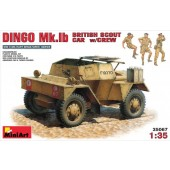 DINGO Mk.Ib BRITISH SCOUT CAR con tripulacion E1/35