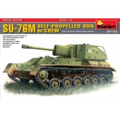 SU-76M SOVIET SELF-PROPELLED GUN w/CREW E1/35
