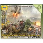 INFANTERIA SOVIETICA - ARMAS PESADAS WWII E1/72